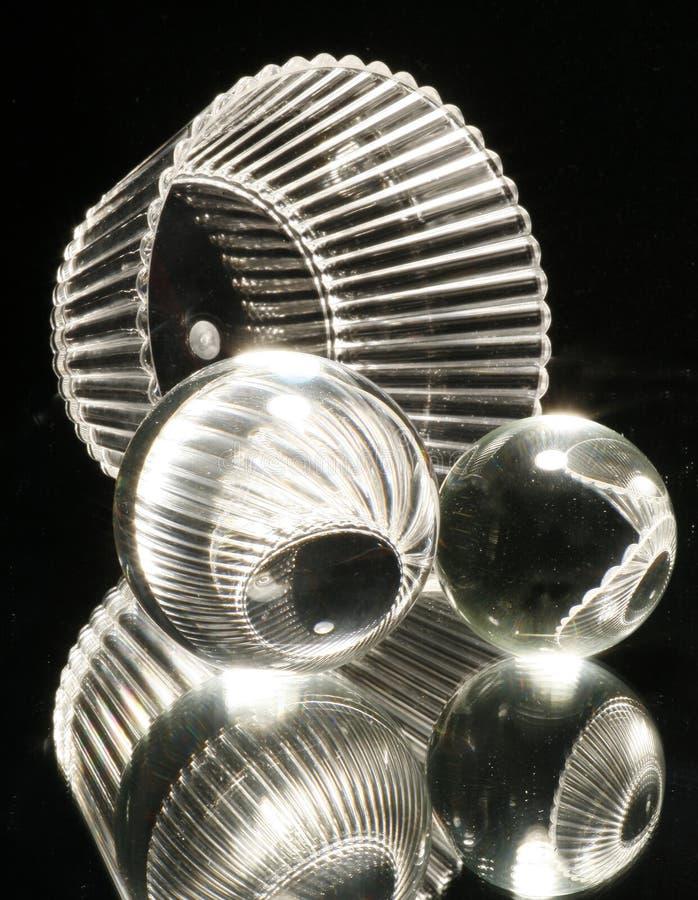 De Gebieden van het glas met Kom stock afbeeldingen