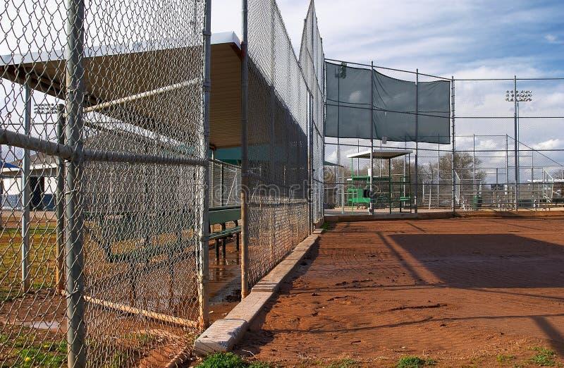 De gebieden van het softball stock fotografie