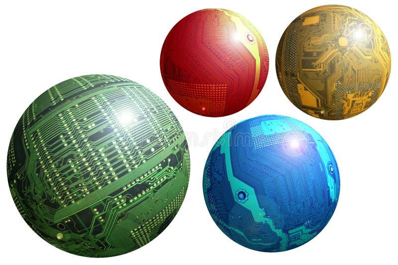 De gebieden van Techno royalty-vrije illustratie