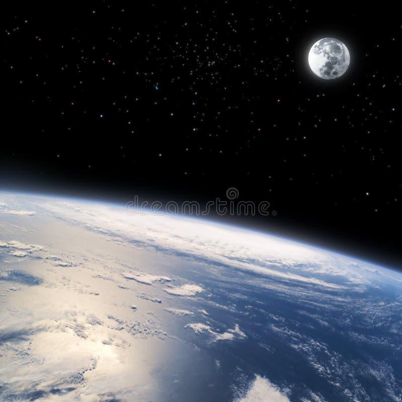 De gebogen horizon van Aarde van ruimte