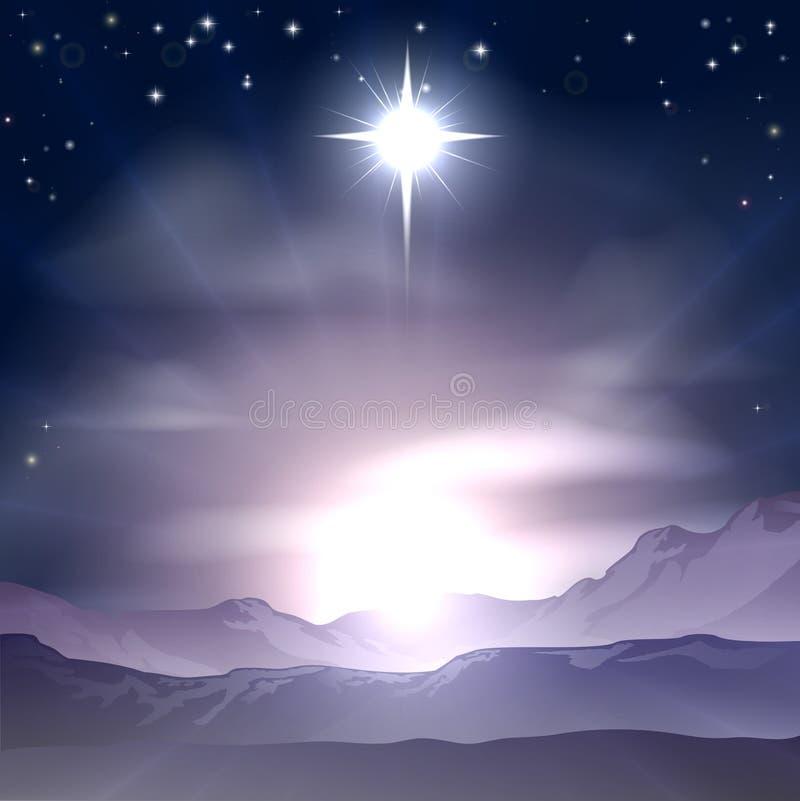 De Geboorte van Christus van de Kerstmiskerstster royalty-vrije illustratie