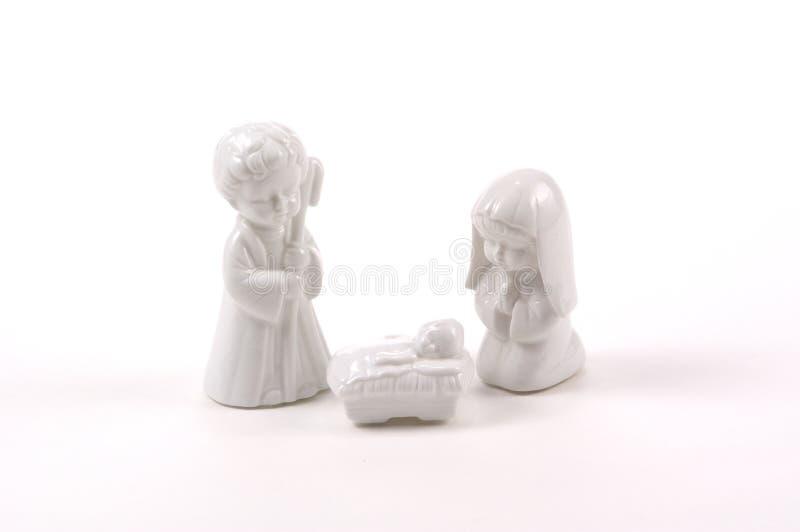 De Geboorte Van Christus Van Kinderen Stock Foto