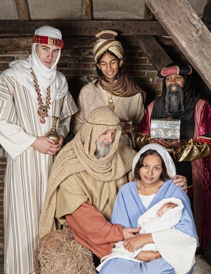 De geboorte van Christus wisemen royalty-vrije stock fotografie
