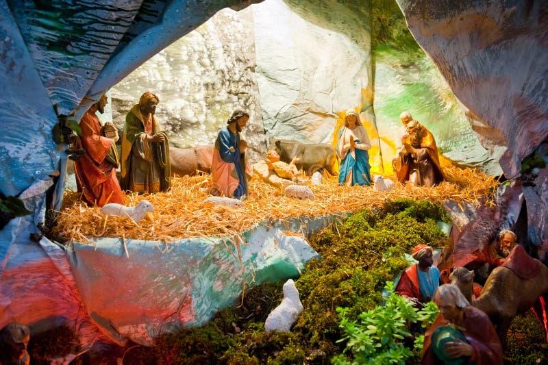 De geboorte van Jesus in Bethlehem royalty-vrije stock afbeeldingen