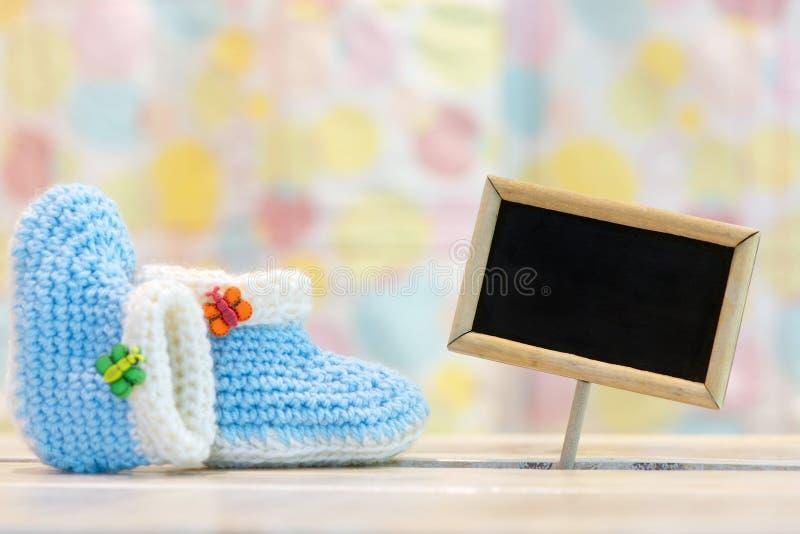De geboortekaart van de babyjongen stock foto