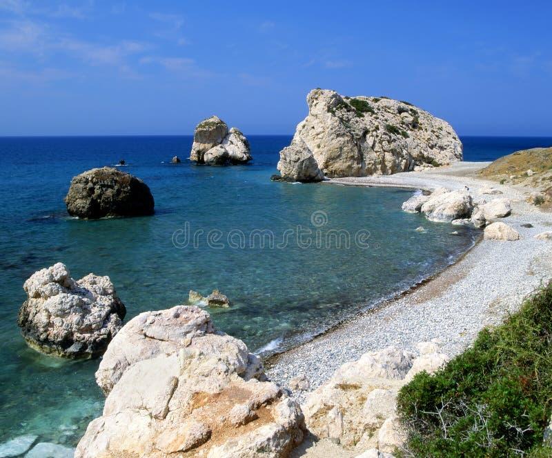 De geboorteplaats van Aphrodite op het Eiland Cyprus royalty-vrije stock afbeelding