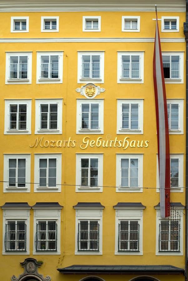 De Geboorteplaats van Mozart, Salzburg, stock afbeelding