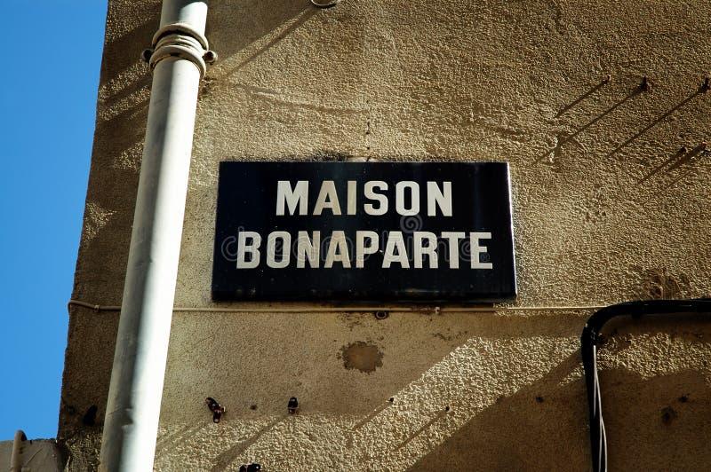 De geboorteplaats van Napoleon Bonaparte royalty-vrije stock afbeeldingen
