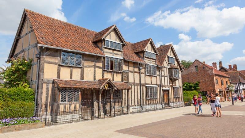 De Geboorteplaats van Shakespeare ` s in stratford-op-Avon stock foto's