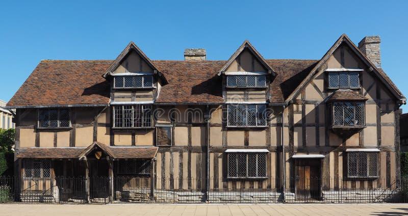 De geboorteplaats van Shakespeare in Stratford op Avon stock foto's