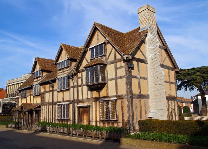 De geboorteplaats van Stratford shakespeares royalty-vrije stock afbeeldingen