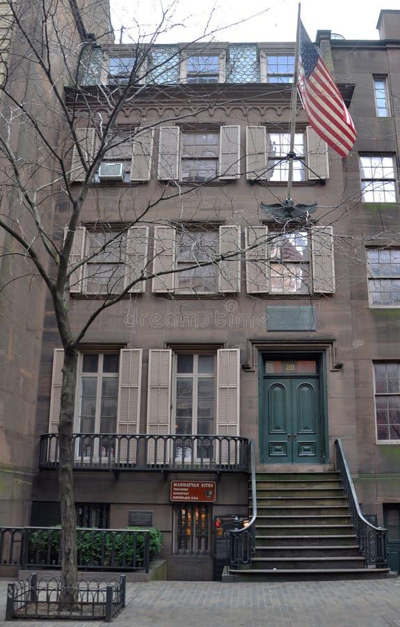 De Geboorteplaats van Theodore Roosevelt, de Stad van New York royalty-vrije stock afbeeldingen