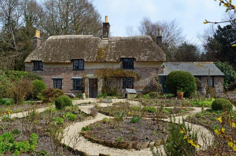 De Geboorteplaats van Thomas Hardy, Hogere Bockhampton, Dorset stock foto's