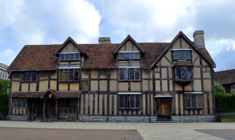 De Geboorteplaats van William Shakespeare's stock afbeeldingen