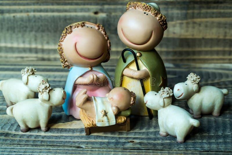 De geboortescène van Jesus stock foto