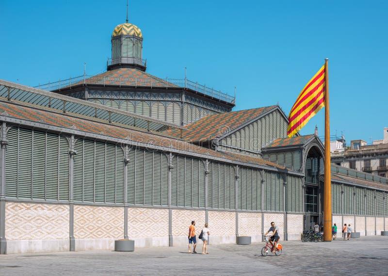 De Geboren markt of Mercat del Born van Gr Barcelona, Spanje royalty-vrije stock afbeeldingen