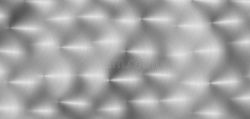 De geborstelde cirkel grijze oppervlakte van het kleurenmetaal Vector illustratie stock illustratie