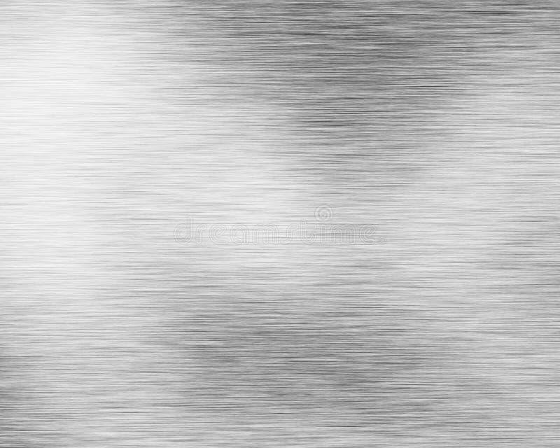 De geborstelde plaat van het alluminiummetaal vector illustratie