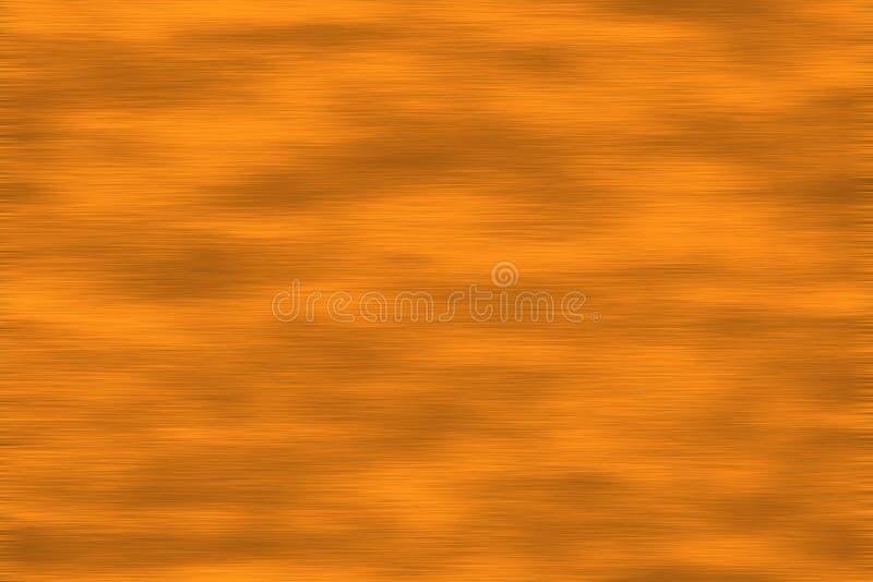 De geborstelde Textuur van het Koper vector illustratie