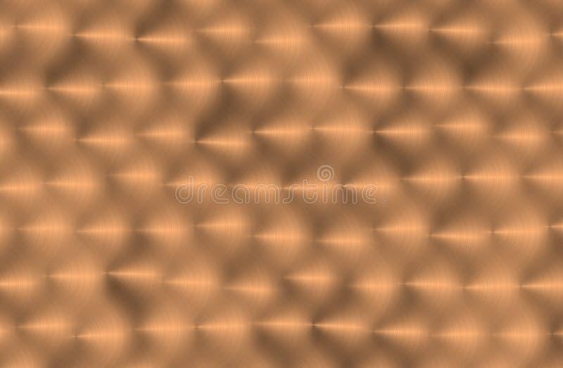 De geborstelde textuur van het kopermetaal vector illustratie