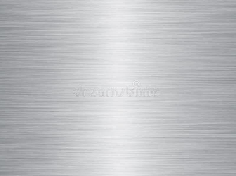 De geborstelde textuur van het staalmetaal stock illustratie
