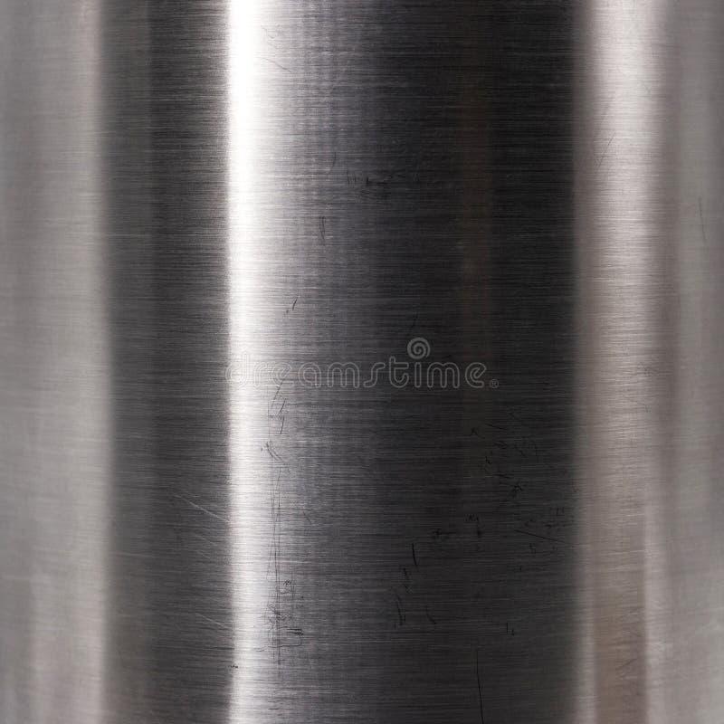 De geborstelde textuur van de staalplaat Harde metaal materiële achtergrond Bezinningsoppervlakte royalty-vrije stock foto