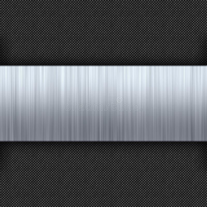 De geborstelde Vezel van de Koolstof van het Metaal stock illustratie