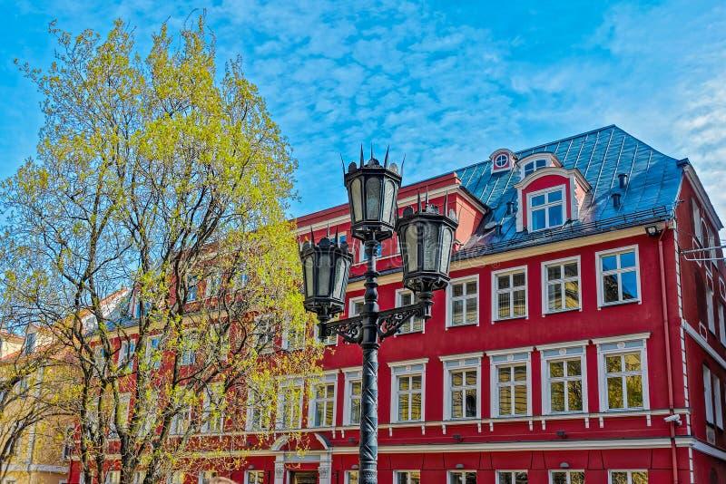 De Gebouwen en de Architectuur van Riga royalty-vrije stock afbeeldingen