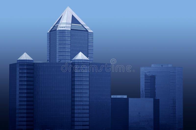 De gebouwen van Bangkok stock fotografie