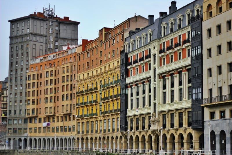 De gebouwen van Bilbao royalty-vrije stock fotografie