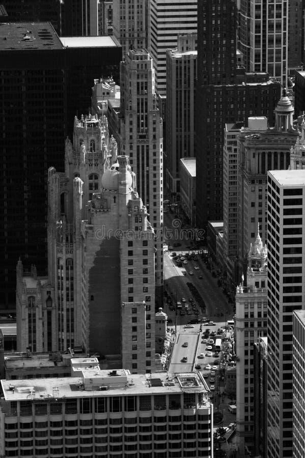 De gebouwen van Chicago stock foto's