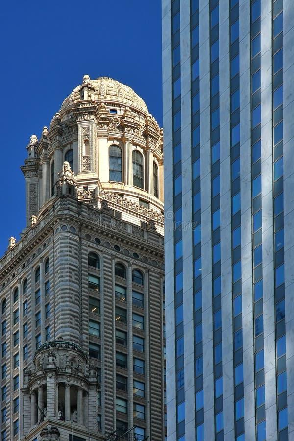 De gebouwen van Chicago royalty-vrije stock afbeeldingen