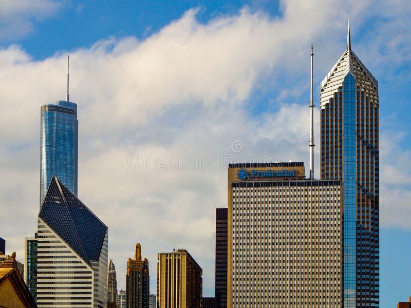 De gebouwen van Chicago, Verenigde Staten - van Chicago stock foto's
