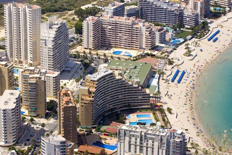 De gebouwen van Costa Blanca stock foto's
