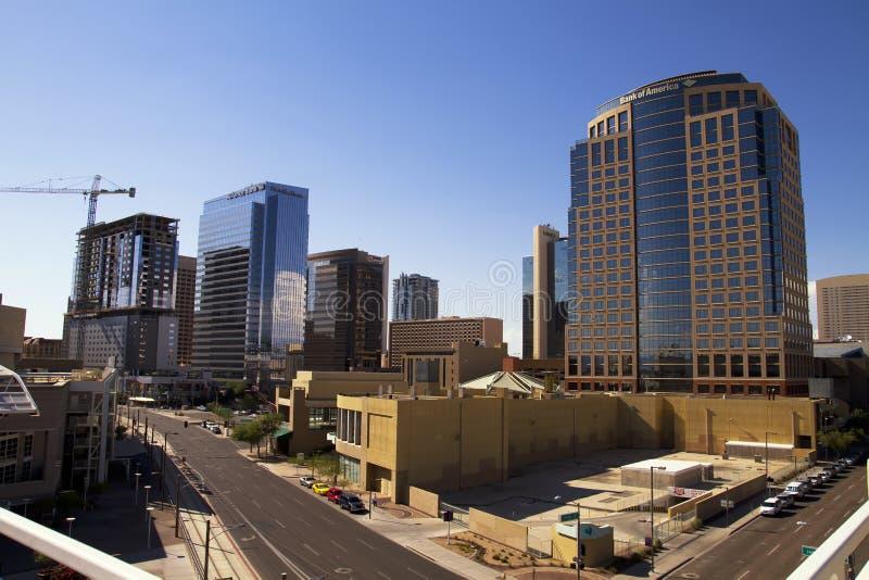 De Gebouwen van de binnenstad van Phoenix Arizona royalty-vrije stock fotografie