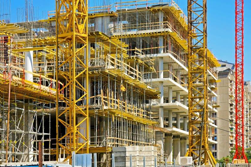 De gebouwen van de bouw stock afbeelding