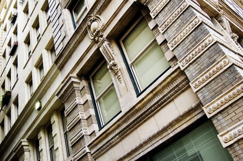 De gebouwen van de stad stock fotografie