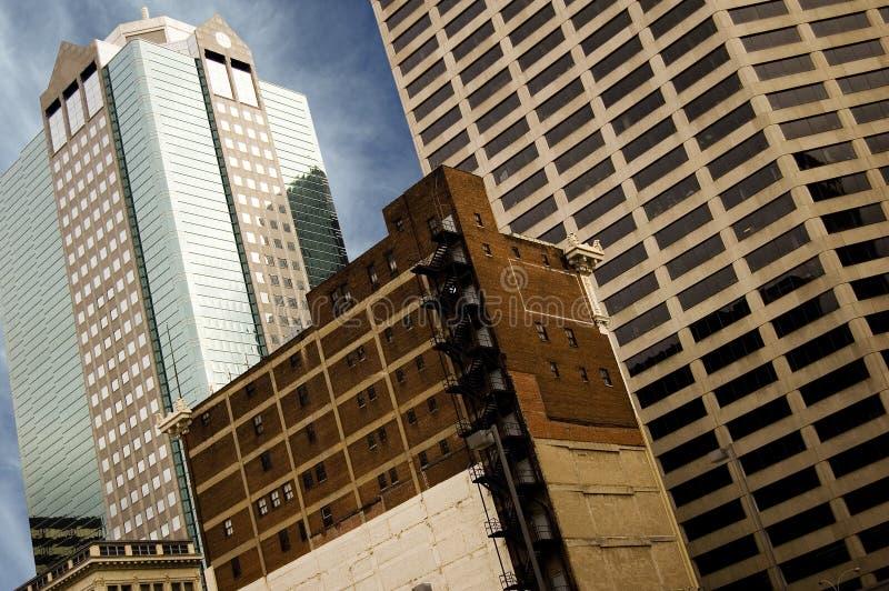 De gebouwen van de stad stock foto's
