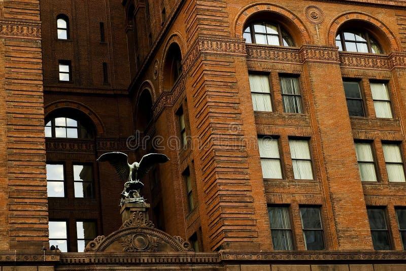 De gebouwen van de stad stock afbeeldingen