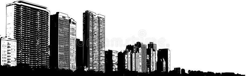 De gebouwen van de stad stock illustratie
