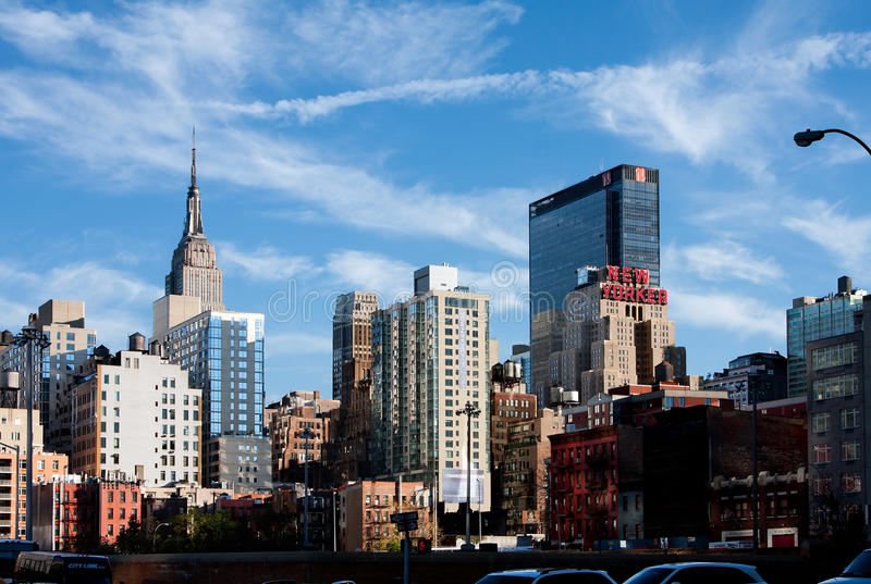 De Gebouwen van de Stad van New York royalty-vrije stock afbeeldingen