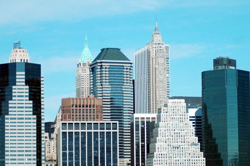 De Gebouwen van de Stad van New York royalty-vrije stock afbeelding