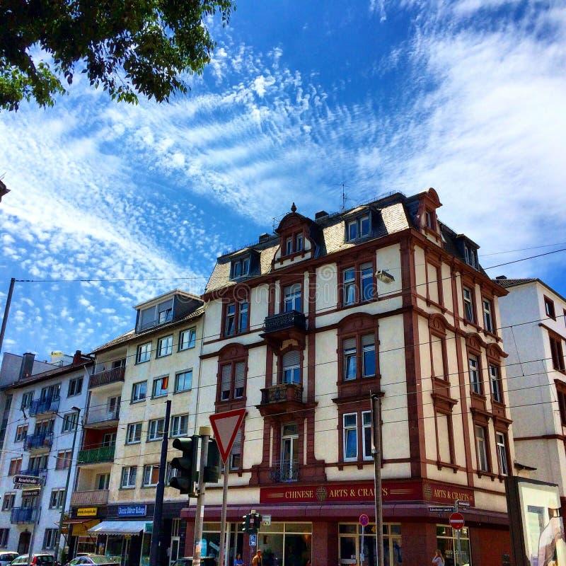 De gebouwen van Frankfurt royalty-vrije stock afbeeldingen