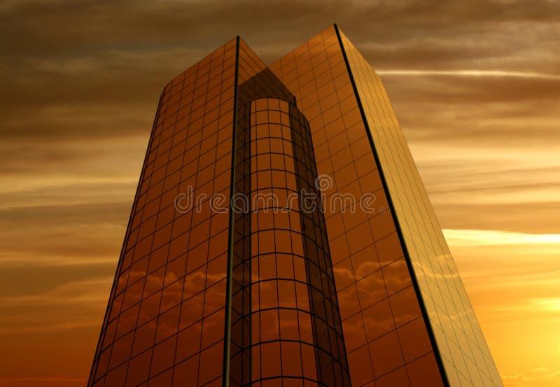 De gebouwen van het bureau royalty-vrije illustratie