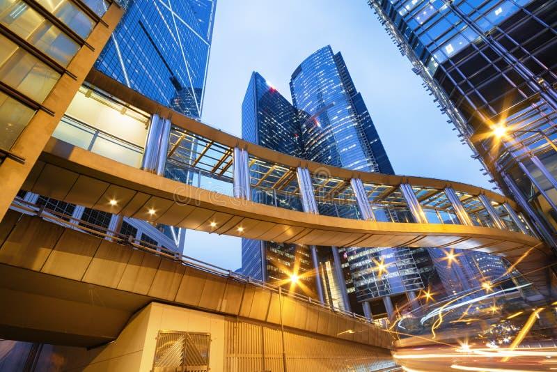 De gebouwen van het bureau in Hongkong stock foto's