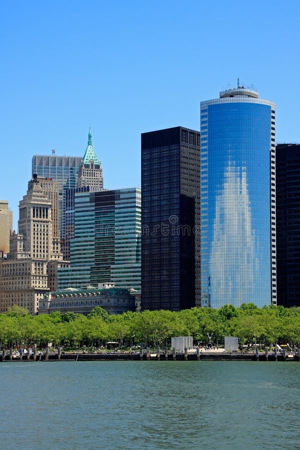 De gebouwen van het Lower Manhattan royalty-vrije stock foto