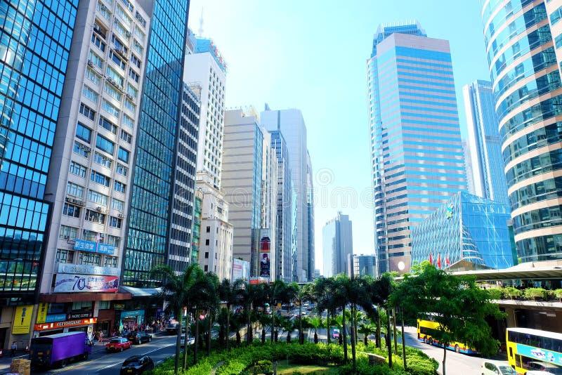 De gebouwen van Hongkong royalty-vrije stock foto's