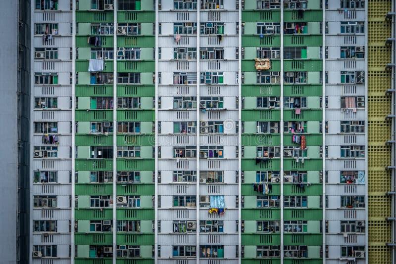 De gebouwen van Hongkong royalty-vrije stock afbeelding