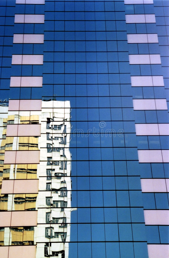 De gebouwen van Hongkong stock fotografie