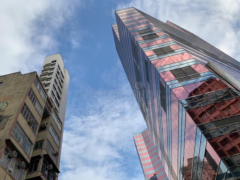 De gebouwen van Hongkong royalty-vrije stock afbeeldingen